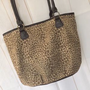 Leopard Spotted Canvas Hobo Bag